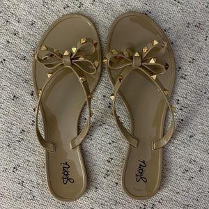 NWT Studded Jelly Flip Flop/Sandal